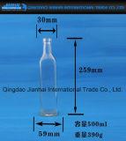 Quadratische kreative Glasbierflasche mit Kappen
