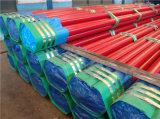 Pipes en acier peintes rouges d'ASTM A53 Sch40
