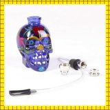 Narghilé di vetro dissipante colorato cranio di vendita caldo del tubo di acqua