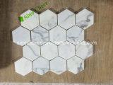 Mosaico de mármore branco de mármore de Italy Arabescato Calacatta do preço barato
