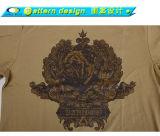 Maglietta del fabbricato del poliestere del cotone 40% di 60%