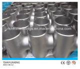 Te recta del tubo sin soldadura del acero inoxidable de ASTM Wp304/316