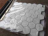 "Carrara 백색 대리석 2 "" 육각형 모자이크 타일"