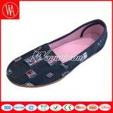 熱い販売の方法スリップオンの女性のキャンバスの偶然靴