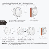 Linptech Linbellのハイエンド電池は2つのドア白い無線円形グループの寝室のドアベルを放す