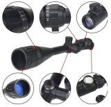 Hunting brandnew Rifle Scope 6-24X50 Aoe Red & Green Illuminated Crosshair Gun Scopes con Free Mounts