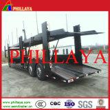 Semi-reboque de transporte de carro de dois eixos de roda única