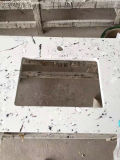 Carrara-Weiß zurechtgeschnittene Quarz-Stein-grosse Platte