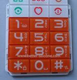 مطاط السيليكون لوحة المفاتيح مع غطاء لوحة المفاتيح البلاستيكية