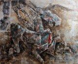 Декоративная лошадь на картине маслом