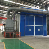 Sabbia Blasting Booths con Automatic Mechanical Recovery System