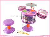 Le musical électronique joue le tambour de jazz apprenant des jouets