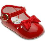 Brillante de cuero de la PU zapatos de bebé 410