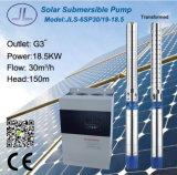 bomba solar centrífuga submergível da irrigação 6sp30-19