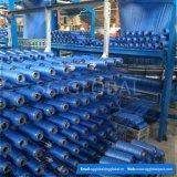 Tissu tissé plat bleu de la couleur pp de la Chine