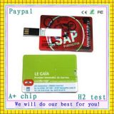 Promotionnel ultra-mince de carte de crédit USB Flash Drive (GC-T005)