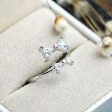 Подарки дня Valentine кольца отверстия смычка стерлингового серебра девушки 925 милые
