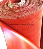 Beweis-Fiberglas-Tuch feuerfest machen und wässern