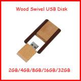 Movimentação de madeira do flash do USB do giro da vara da memória do USB do disco do USB