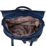 青く大きい偶然様式の折り返しのバックルの女性のショルダー・バッグ(MBNO041039)