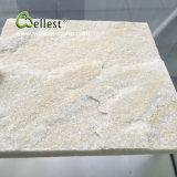 벽 클래딩과 포장을%s 백색 베이지색 규암 도와