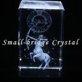 El laser del cristal 3D grabó al agua fuerte a sagitario