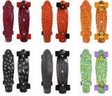 Скейтборд крейсера пенниа горячих графиков печатание перехода воды палубы пластичный