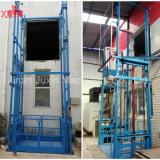 Elevación de cadena hidráulica del elevador del cargo del carril de guía