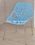 Pfau-Plastikmetallfahrwerkbein, das Garten-Stuhl (LL-0036, stapelt)