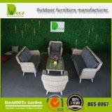 Jogo ao ar livre do sofá de Cornor da mobília do jardim do Rattan sintético da qualidade superior