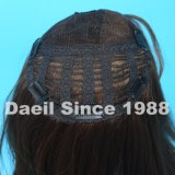 Parte della parte superiore dei capelli umani per le donne con l'onda naturale