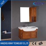 Modèle fixé au mur neuf de vanité de salle de bains en bois solide de renivellement