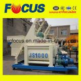 Полноавтоматический конкретный смеситель с хоппером, конкретный смеситель Js1000 для дозируя завода