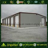 Estructura prefabricada de acero corrugado de acero Hoja de garage del coche (LS-S-089))