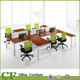 Стол рабочей станции офиса 6 мест прямой с рамкой Alumium