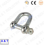 Drop Forged Steel D Type Anchor Shackle para Hardware de aço de aço