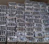Perfil de alumínio para a tubulação quadrada