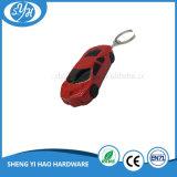 金属の印刷のステッカーが付いている卸売によってカスタマイズされるブランク金属車Keychain