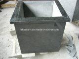 De natuurlijke Pot van de Bloem van het Graniet van de Steen Zwarte G684 bij Opgepoetst en Gevlamd voor Tuin