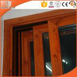 Раздвижные двери алюминия древесины дуба лидирующей виллы твердые