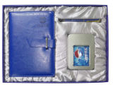 Neuer Ausgabe-Leder-Notizbuch-Geschenk-Kasten