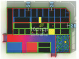 Kaiqi passte Trampolinen kombinierte verschiedene Aktivitäten an (KQ60154A-B)