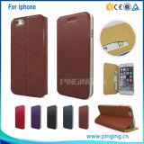Caso de cuero delgado ultra fino para el iPhone 5/6/6s más