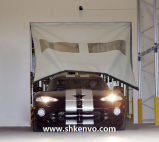 Portes à réparation automatique de garage de tissu de PVC pour la pièce propre