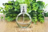 Botella de cristal del aerosol de la fragancia del perfume con la bomba y el casquillo