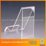 명확한 아크릴 구부리는 진열대 또는 플렉시 유리 제품 Acrlyic 플라스틱 홀더 또는 선반 또는 전시