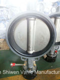 válvula de borboleta do assento do disco EPDM de 150lb Wcb CF3m com engrenagem