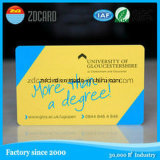 Cartão relativo à promoção do PVC RFID do projeto do logotipo com microplaqueta