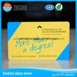 Tarjeta promocional del PVC RFID del diseño de la insignia con la viruta