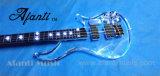 Guitarra eléctrica de acrílico de /LED de la guitarra cristalina transparente de Afanti (AAG-017)